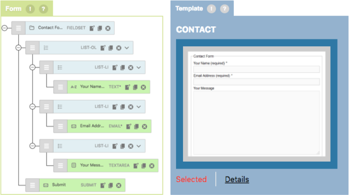 CF7 Skins - Form tab - Contact Form Template on Visual Editor