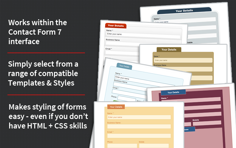 Great looking Contact Form 7 forms made easy