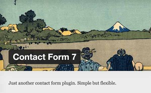 Header image of the legendary Contact Form 7 plugin for WordPress