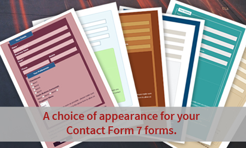 Each Style covers the full range of Contact Form 7 form elements