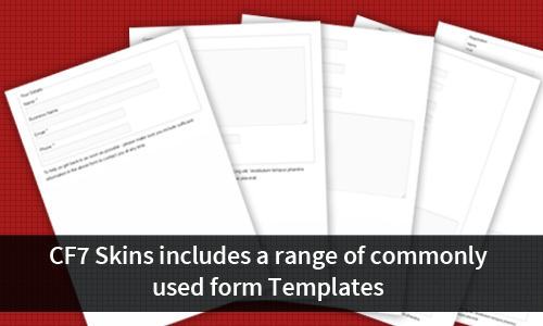 Templates provided cover a range of commonly used forms