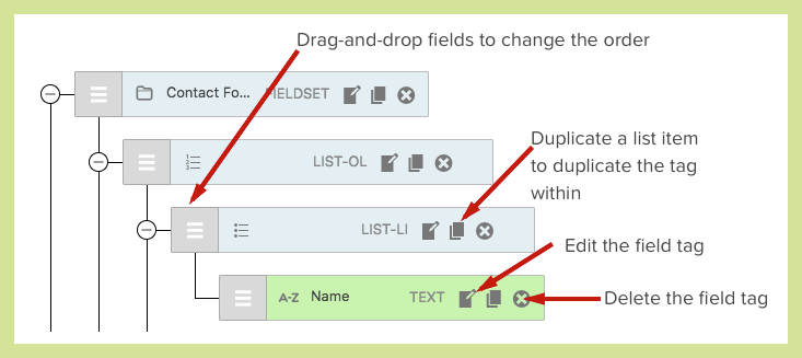Adjust form fields quickly