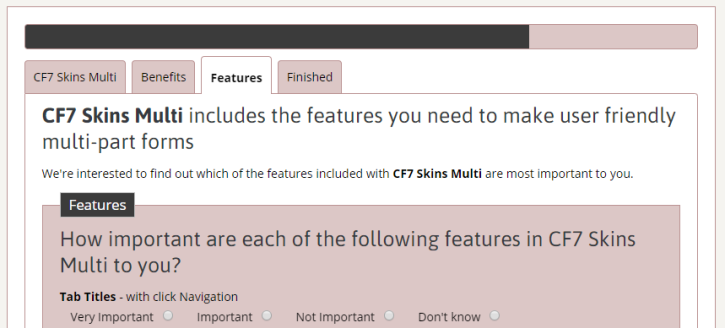 CF7 Skins Multi form example