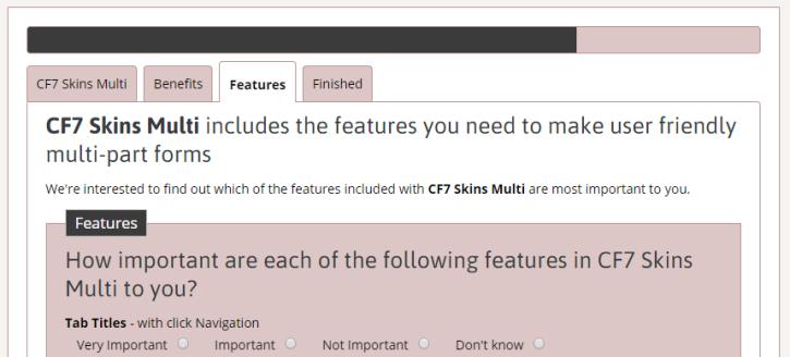 CF7 Skins Multi form example