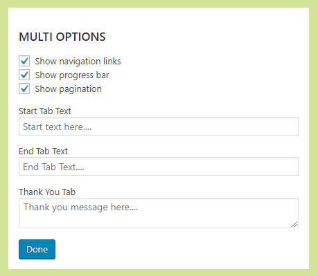 Multi Options Edit Dialog
