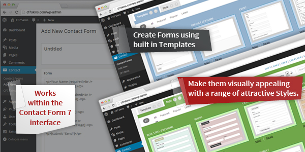 Works right within the normal Contact Form 7 plugin interface