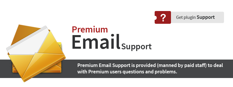 Premium Email Support is provided to deal with users questions and problems